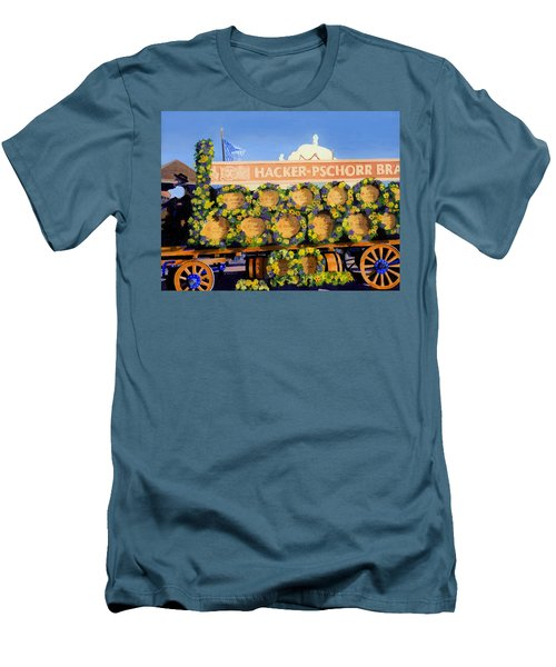 Men's T-Shirt (Slim Fit) featuring the painting Oktoberfest by Lynne Reichhart