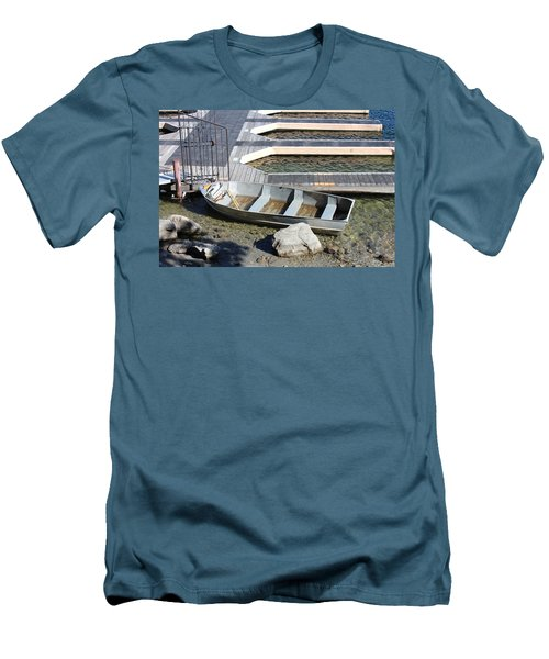 Old Boat And Dock Men's T-Shirt (Athletic Fit)