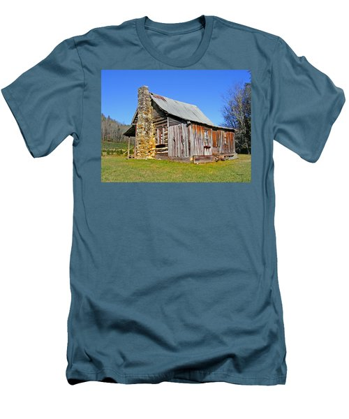 Old Cabin Along Macedonia Church Road Men's T-Shirt (Athletic Fit)