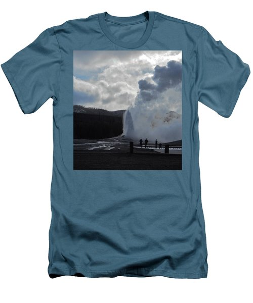 Men's T-Shirt (Slim Fit) featuring the photograph Old Faithful Morning by Michele Myers