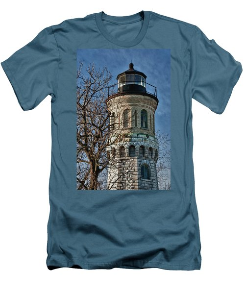 Men's T-Shirt (Slim Fit) featuring the photograph Old Fort Niagara Lighthouse 4484 by Guy Whiteley