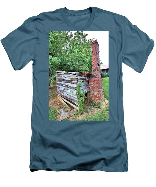 Men's T-Shirt (Slim Fit) featuring the photograph Old Georgia Smokehouse by Gordon Elwell