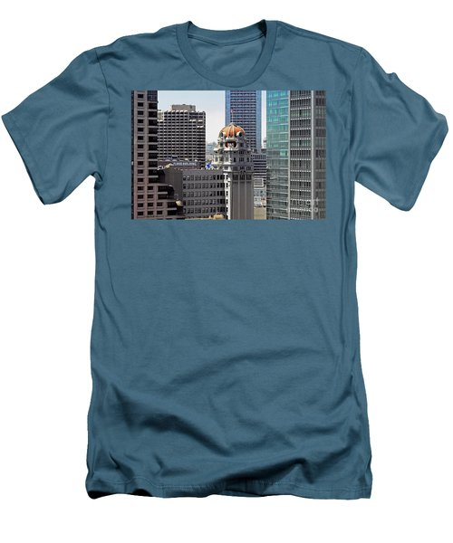 Men's T-Shirt (Slim Fit) featuring the photograph Old Humboldt Bank Building In San Francisco by Susan Wiedmann