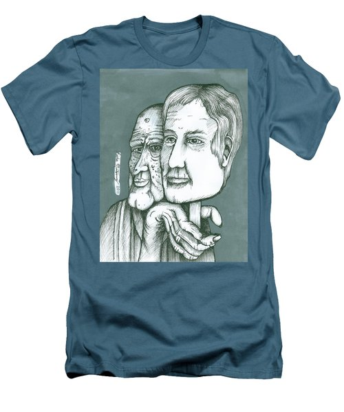 Old Man Behind A Young Mans Face Men's T-Shirt (Athletic Fit)