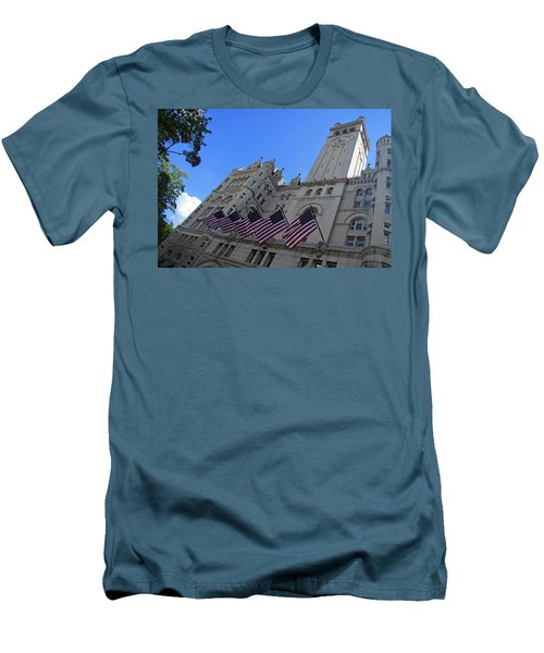 The Old Post Office Or Trump Tower Men's T-Shirt (Slim Fit)