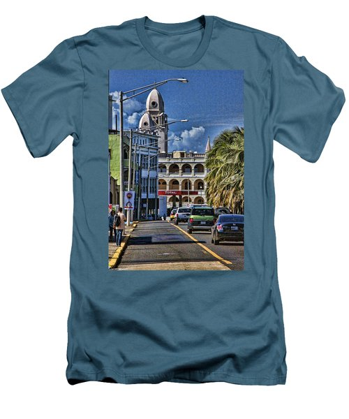Old San Juan Cityscape Men's T-Shirt (Athletic Fit)