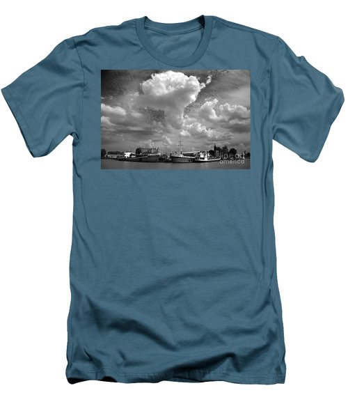 Old Ships Men's T-Shirt (Slim Fit) by Bernardo Galmarini