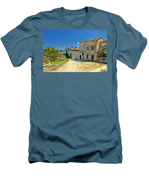 Old Streets Of Susak Island Men's T-Shirt (Athletic Fit)