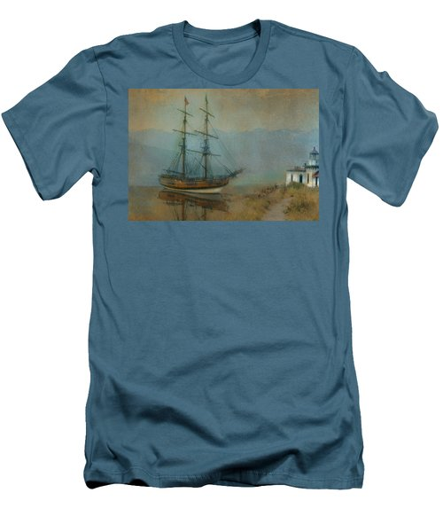 On The Water Men's T-Shirt (Slim Fit) by Jeff Burgess