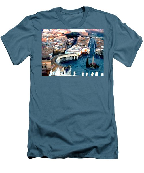 Men's T-Shirt (Slim Fit) featuring the digital art On Top Of Vatican 1 by Brian Reaves