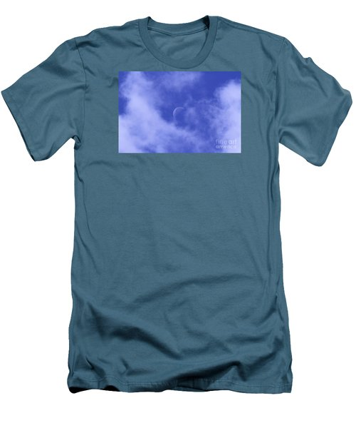 Men's T-Shirt (Slim Fit) featuring the photograph Once In A Blue Moon by Judy Whitton