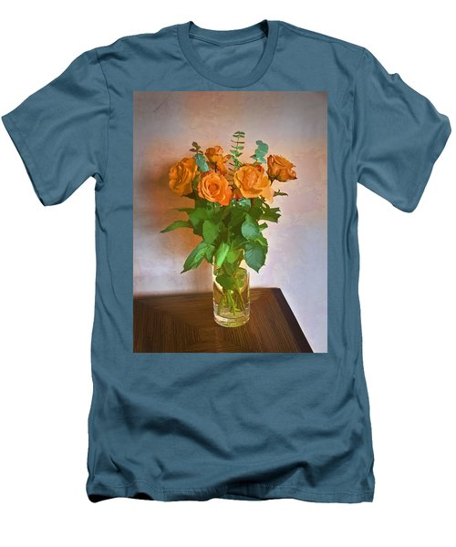 Men's T-Shirt (Slim Fit) featuring the photograph Orange And Green by John Hansen