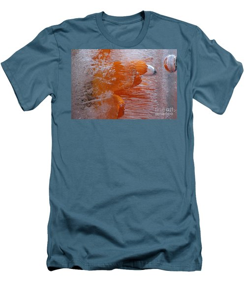 Orange Flower Men's T-Shirt (Slim Fit) by Randi Grace Nilsberg