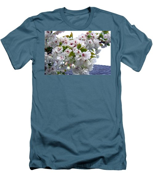 Oregon Cherry Blossoms Men's T-Shirt (Slim Fit) by Will Borden