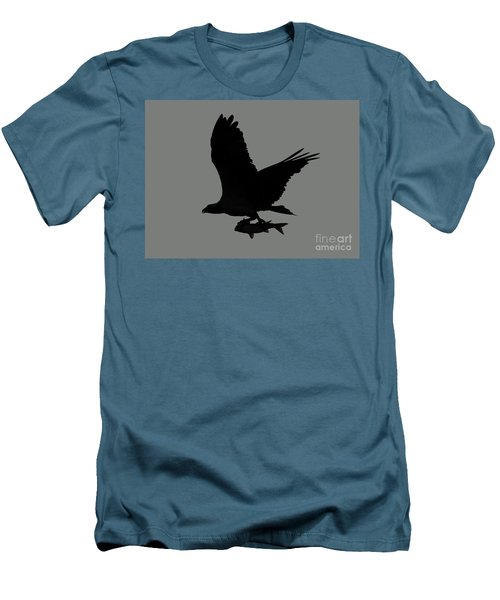 Men's T-Shirt (Slim Fit) featuring the photograph Osprey With A Fish Photo by Meg Rousher