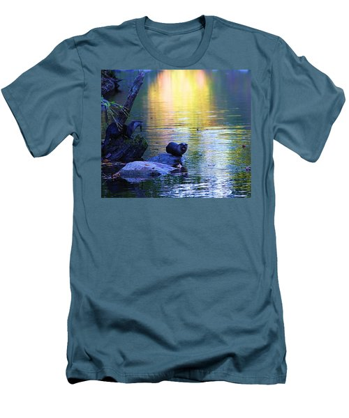 Otter Family Men's T-Shirt (Slim Fit) by Dan Sproul