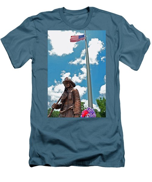 Men's T-Shirt (Slim Fit) featuring the photograph Our Heroes by Charlotte Schafer
