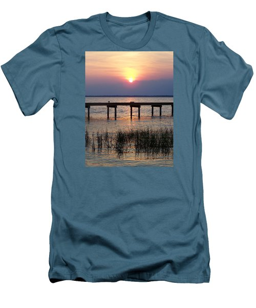 Men's T-Shirt (Slim Fit) featuring the photograph Outerbanks Nc Sunset by Sandi OReilly