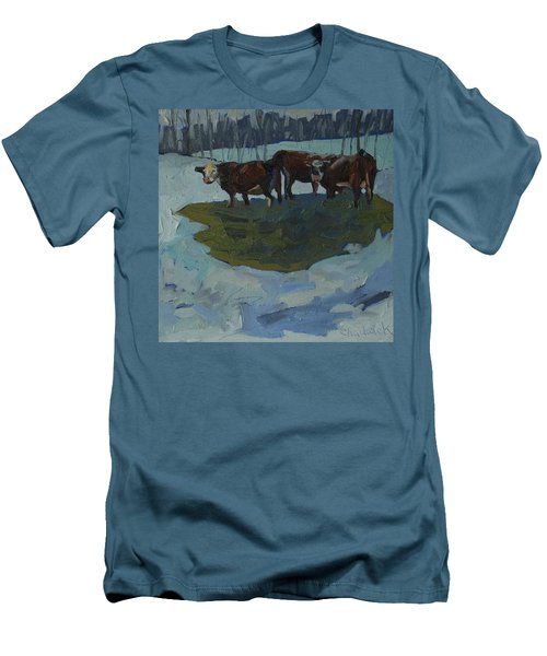 Outstanding In Their Field Men's T-Shirt (Slim Fit) by Phil Chadwick