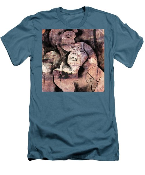 Men's T-Shirt (Slim Fit) featuring the painting Overlaps I by Paul Davenport