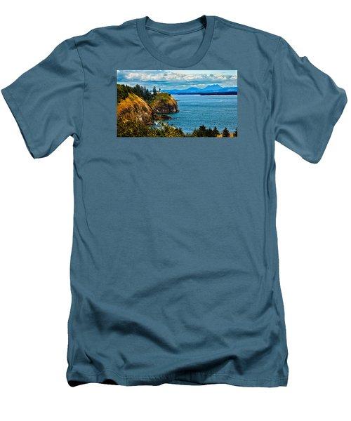 Overlooking Men's T-Shirt (Slim Fit) by Robert Bales