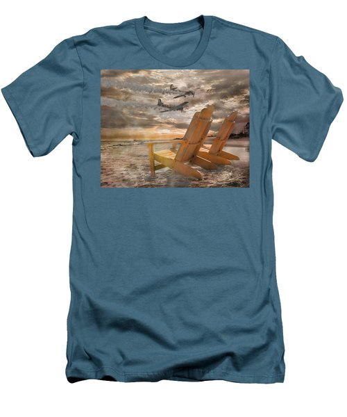 Pairs Along The Coast Men's T-Shirt (Slim Fit) by Betsy Knapp