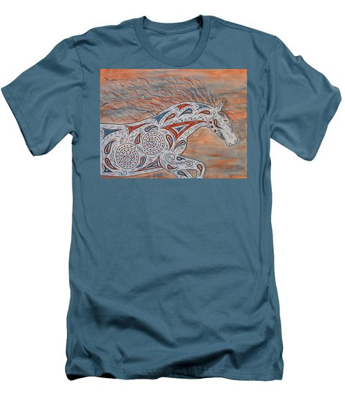 Men's T-Shirt (Slim Fit) featuring the painting Paisley Spirit by Susie WEBER