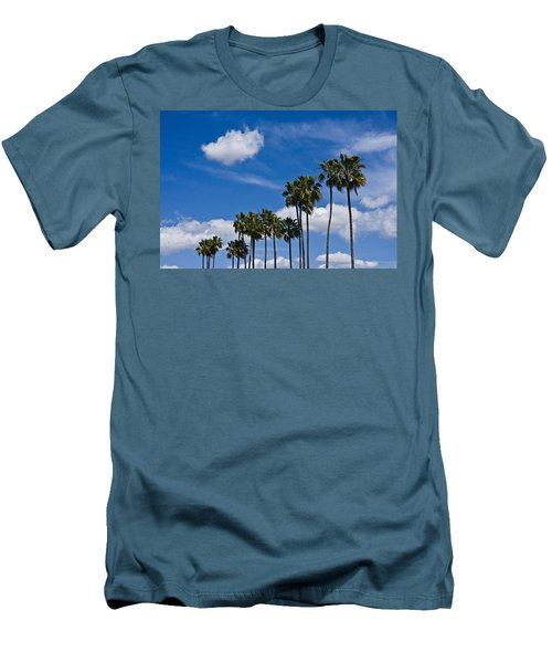 Palm Trees In San Diego California No. 1661 Men's T-Shirt (Slim Fit) by Randall Nyhof
