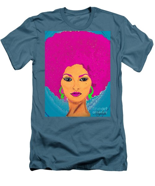 Pam Grier Bold Diva C1979 Pop Art Men's T-Shirt (Slim Fit) by Saundra Myles
