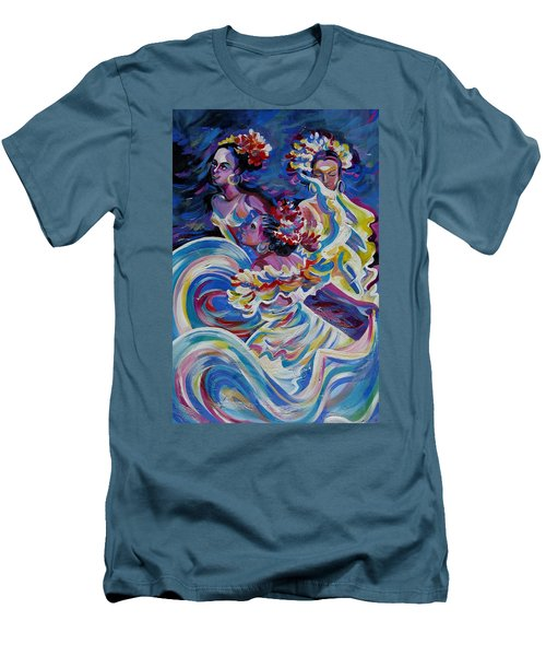Panama Carnival. Folk Dancers Men's T-Shirt (Athletic Fit)