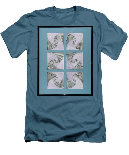 Men's T-Shirt (Slim Fit) featuring the mixed media Panes by Ron Davidson
