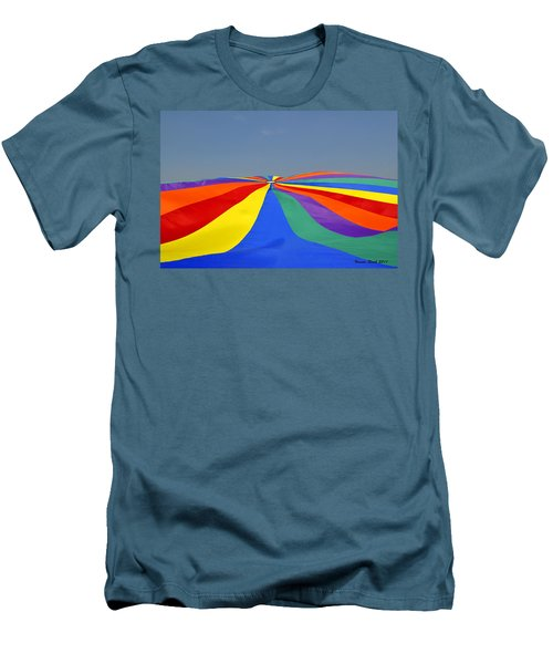 Parachute Of Many Colors Men's T-Shirt (Athletic Fit)