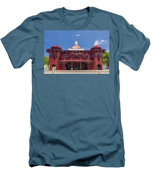 Parque De Bombas Fire Station In Ponce Puerto Rico Men's T-Shirt (Athletic Fit)