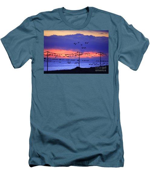 Men's T-Shirt (Slim Fit) featuring the photograph Parrots by Bernardo Galmarini
