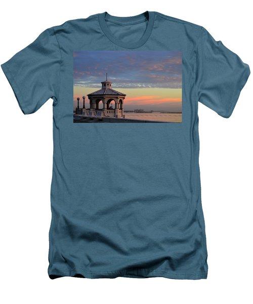 Pastel Sky Men's T-Shirt (Slim Fit) by Leticia Latocki