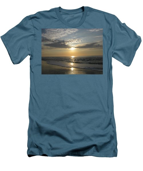 Pastel Sunrise Men's T-Shirt (Slim Fit) by Ellen Meakin