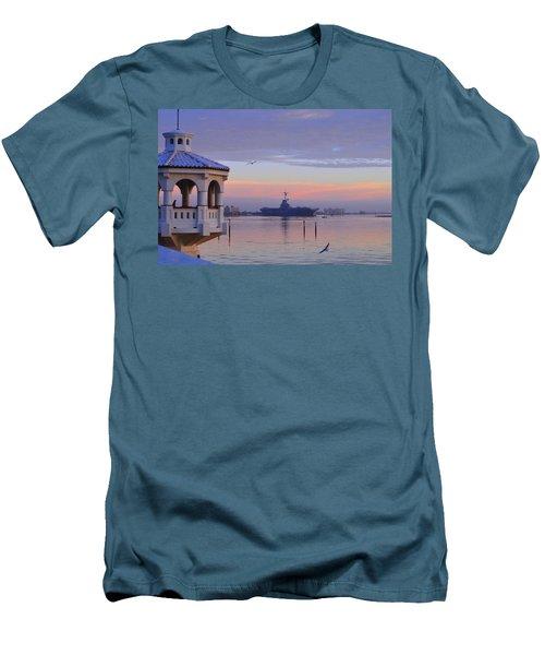 Pastel Uss Lexington Men's T-Shirt (Slim Fit) by Leticia Latocki