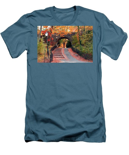 Path Of Leaves Men's T-Shirt (Athletic Fit)