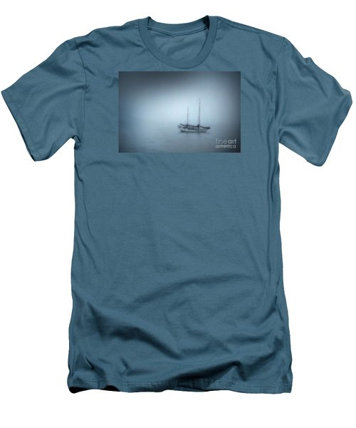 Peaceful Sailboat On A Foggy Morning From The Book My Ocean Men's T-Shirt (Athletic Fit)