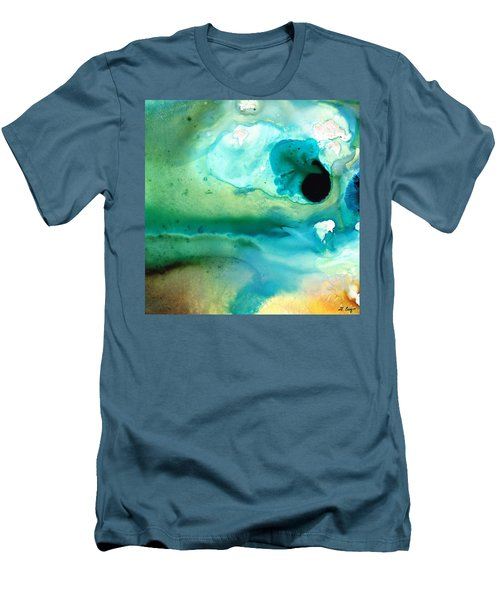 Men's T-Shirt (Athletic Fit) featuring the painting Peaceful Understanding by Sharon Cummings