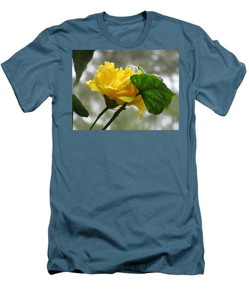 Peachy Yellow Surprise Men's T-Shirt (Athletic Fit)