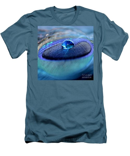 Peacock Globe Men's T-Shirt (Athletic Fit)
