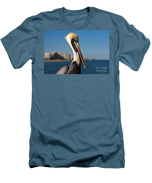 Men's T-Shirt (Slim Fit) featuring the photograph Pelican by Barbara McMahon