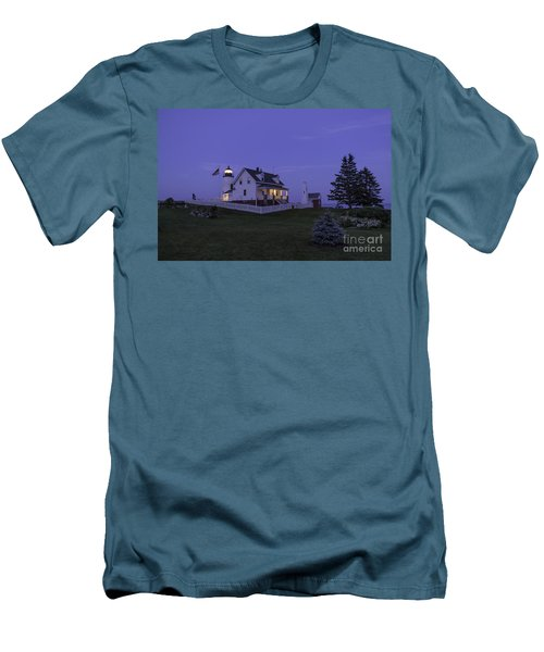 Pemaquid Point Light - Blue Hour Men's T-Shirt (Athletic Fit)