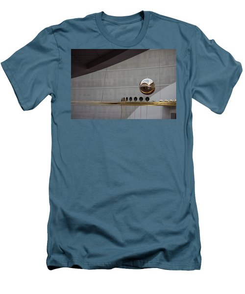 Men's T-Shirt (Slim Fit) featuring the photograph Pendulum Sculpture by Patricia Babbitt