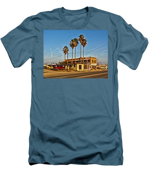 Men's T-Shirt (Slim Fit) featuring the photograph Penny Bar Mckittrick California by Lanita Williams