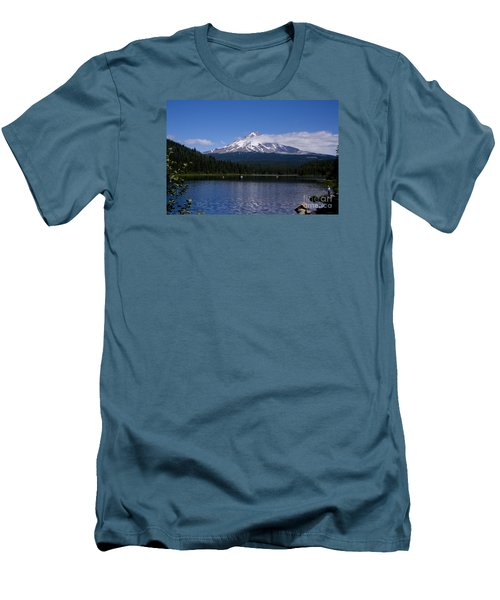Men's T-Shirt (Slim Fit) featuring the photograph Perfect Day At Trillium Lake by Ian Donley