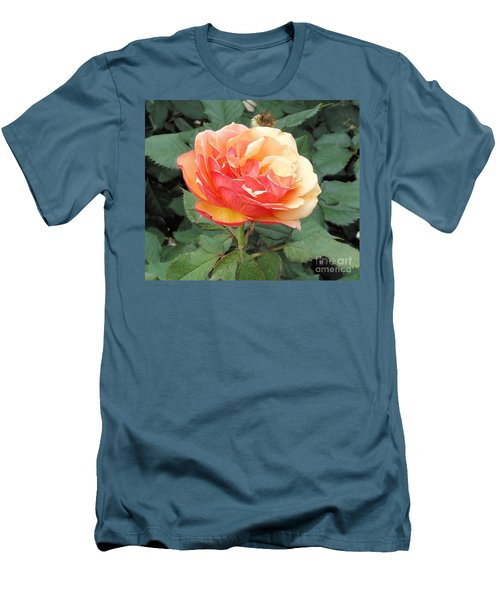 Men's T-Shirt (Slim Fit) featuring the photograph Perfect Rose by Janette Boyd
