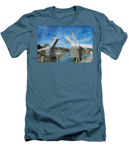 Perkins Cove Drawbridge Textured Men's T-Shirt (Athletic Fit)
