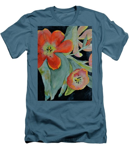 Men's T-Shirt (Slim Fit) featuring the painting Persevere by Beverley Harper Tinsley